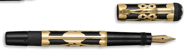 MONTBLANC: No. 1 BB Gold Overlay Safety Fountain Pen, c.1925