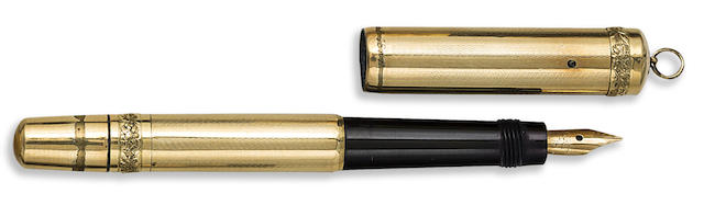 MONTBLANC: 18K Rolled Gold Ringtop Safety Fountain Pen, c.1930