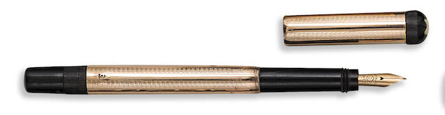 MONTBLANC: No. 0 Baby Safety Fountain Pen, 9K Solid Rose Gold Overlay, 1920s