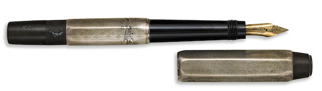 MONTBLANC: No. 2M Silver Six-Sided Safety Fountain Pen