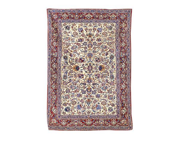 A pair of Nain rugs
