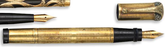 AURORA: 18K Rolled Gold Overlay Safety Pen