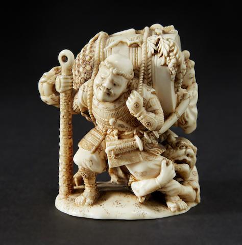 An ivory model of Benkei