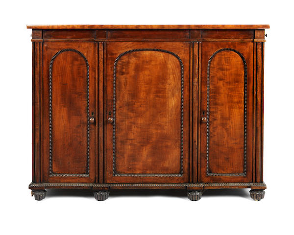 A George IV mahogany serving table/side cabinet