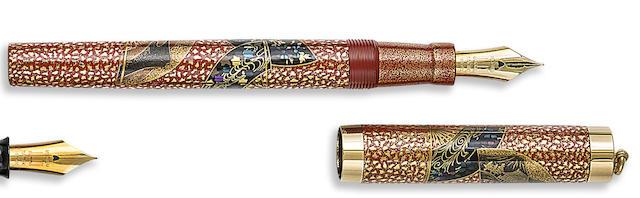 DUNHILL-NAMIKI: Senmen Limited Edition 25 Maki-e Fountain Pen