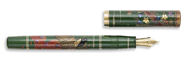 NAMIKI: Dancing Beauty Maki-e and Raden Limited Edition 75 Fountain Pen
