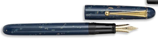 PILOT-NAMIKI: Blue Lacquer Fountain Pen