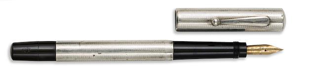 ASTORIA: No. 2M 900 Silver Safety Fountain Pen, Long Version