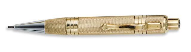 MONTBLANC: Pix No. 740 Rolled Gold Barleycorn Propelling Pencil