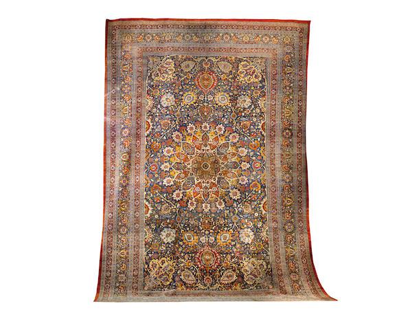 A large and impressive Tabriz carpet