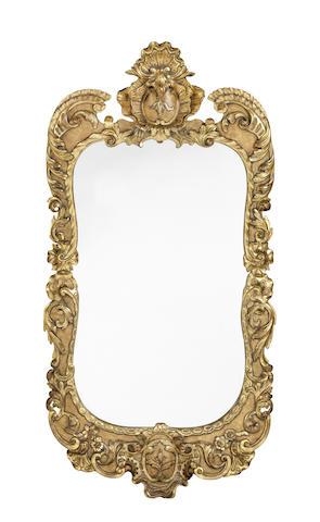 A George II carved giltwood mirror