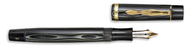 MONTBLANC: Meisterstück No. 124 PL (Platinum-Striped) Push-knob Filler Fountain Pen