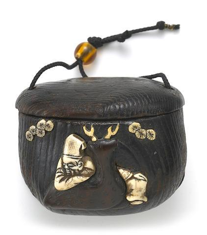A wood tonkotsu with ivory inlay