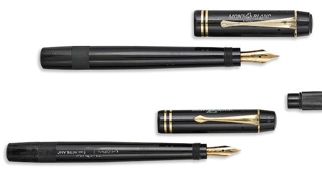 MONTBLANC: II Series No. 202 and 204 Safety Fountain Pens, Black Hard Rubber