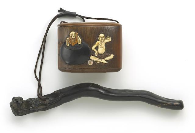 A boxwood and bamboo tonkotsu with ivory inlay