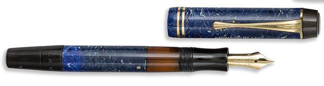MONTBLANC: No. 234 1/2 Azurite Blue Piston-Filler