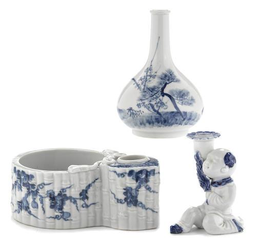 A group of three Hirado porcelains