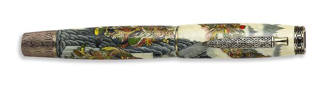KRONE: Art of War Maki-e Limited Edition 288 Fountain Pen
