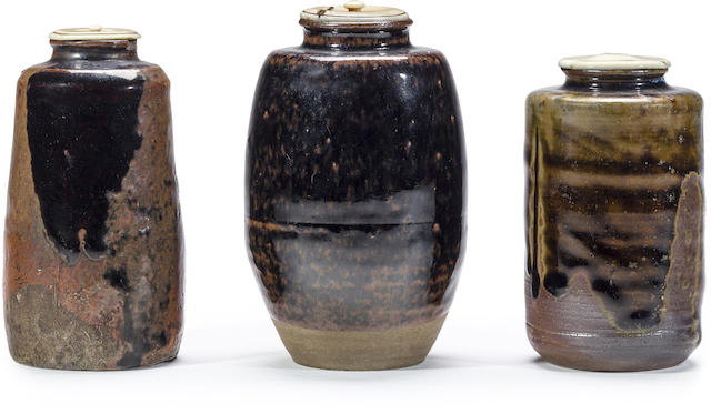 A group of three tea caddies, chaire