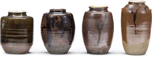 A group of four tea caddies, chaire