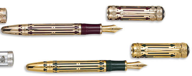 MONTBLANC: Peter I the Great and Catherine II the Great Patron of Art Limited Edition 4810 Fountain Pen Set