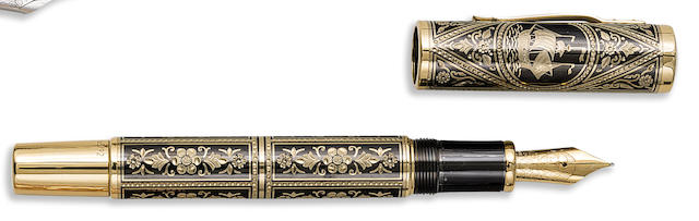 "MONTBLANC: Christopher Columbus ""Cristobol Colon"" 18K Solid Gold Toledo Limited Edition 92 Fountain Pen"
