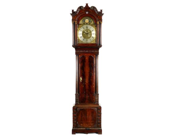 A George III mahogany musical quarter chiming longcase clock