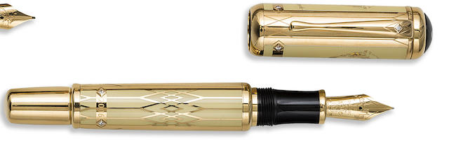 MONTBLANC: Max Reinhardt 2006 Solid 18K Gold Limited Edition 30 Fountain Pen