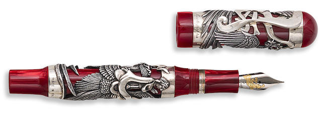 MONTEGRAPPA: Eternal Bird Sterling Silver Limited Edition 1912 Fountain Pen
