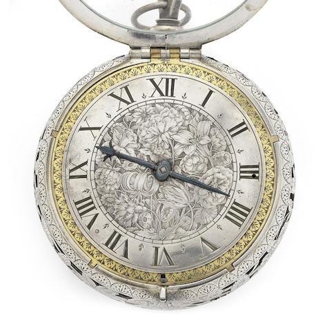 A fine and rare silver striking coach watch