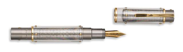 OMAS: Harmonia Mundi Titanium Limited Edition 950 Fountain Pen
