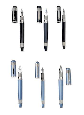 TIBALDI: Continental Lot of Six Limited Edition 999 Writing Instruments