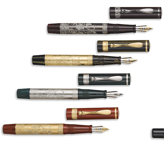 VISCONTI: Shunga Erotic Art Pen Limited Edition Set of Four Fountain Pens