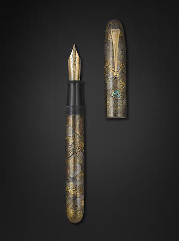 NAMIKI: Emperor Dragon and Cloud Maki-E Fountain Pen, Unique Prototype, Grade A, c.2000