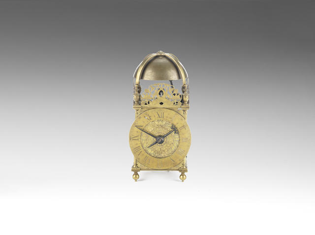 A mid 17th century brass lantern clock