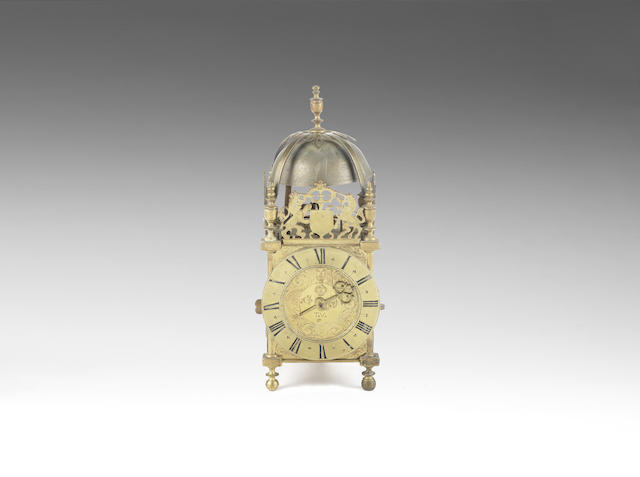 A rare late 17th century West Country lantern clock