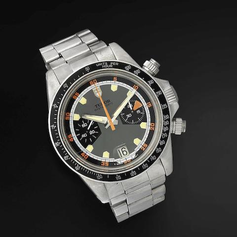 Tudor. A stainless steel manual wind calendar chronograph bracelet watch