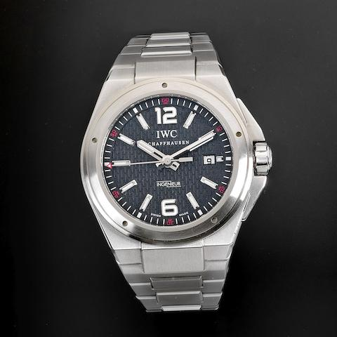 IWC. A stainless steel automatic calendar bracelet watch