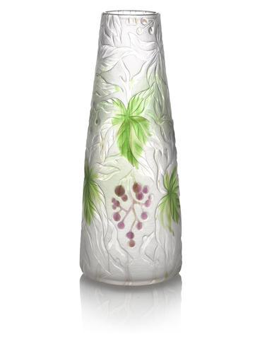 Tiffany Studios: Carved Cameo Vase