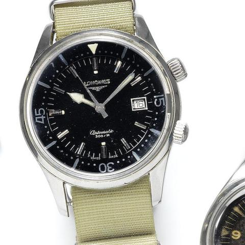 Longines. A military stainless steel automatic calendar wristwatch for the Royal Australian Navy