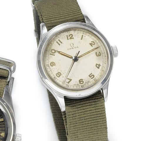 Omega. A stainless steel manual wind wristwatch for the US Army in Germany