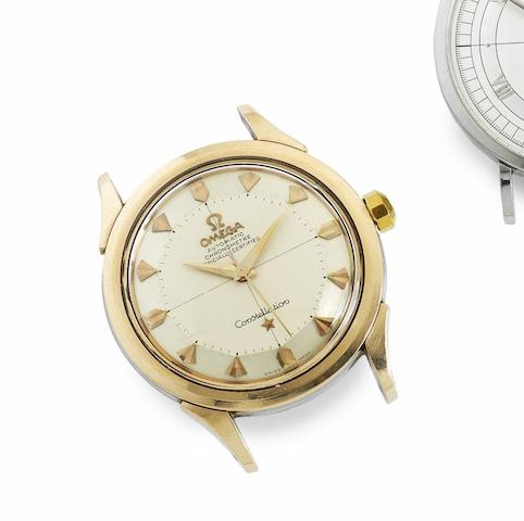 Omega. A gold capped steel automatic watch