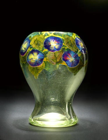 An Important Morning Glory Paperweight Vase