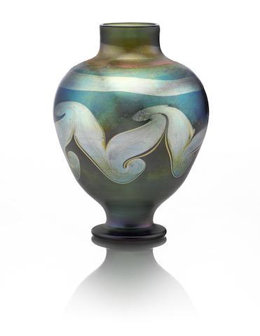 Decorated Blue Vase