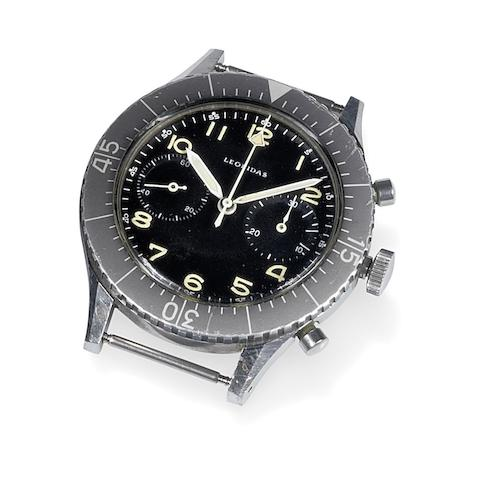 Leonidas. A stainless steel manual wind chronograph watch for the Italian Air Force