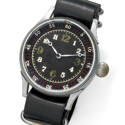 Seikosha. A military nickel plated manual wind wristwatch for the Japanese Imperial Airforce