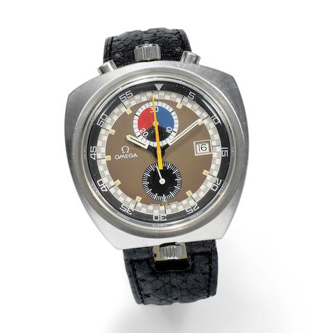 Omega. A stainless steel manual wind calendar chronograph wristwatch