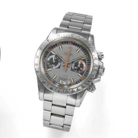 Tudor. A stainless steel manual wind chronograph calendar bracelet watch