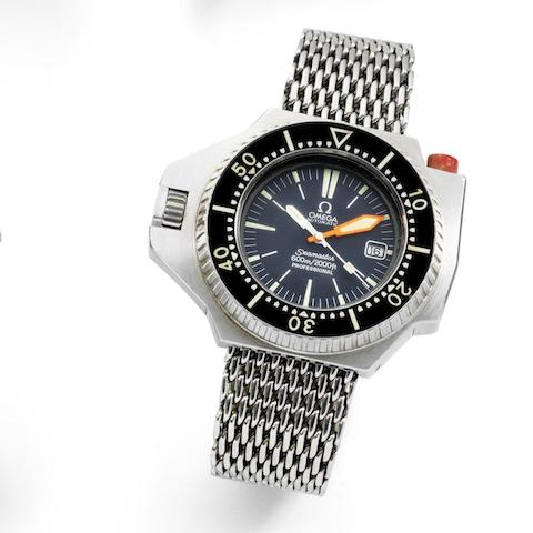 Omega. A stainless steel automatic calendar bracelet watch