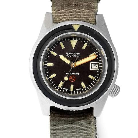 Blancpain. A stainless steel automatic calendar wristwatch